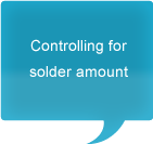 Controlling for amount of solder