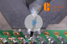 PCB and coaxial cable